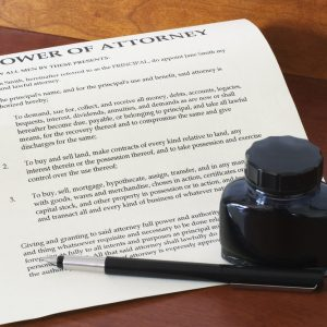 Power of attorney for property purchase